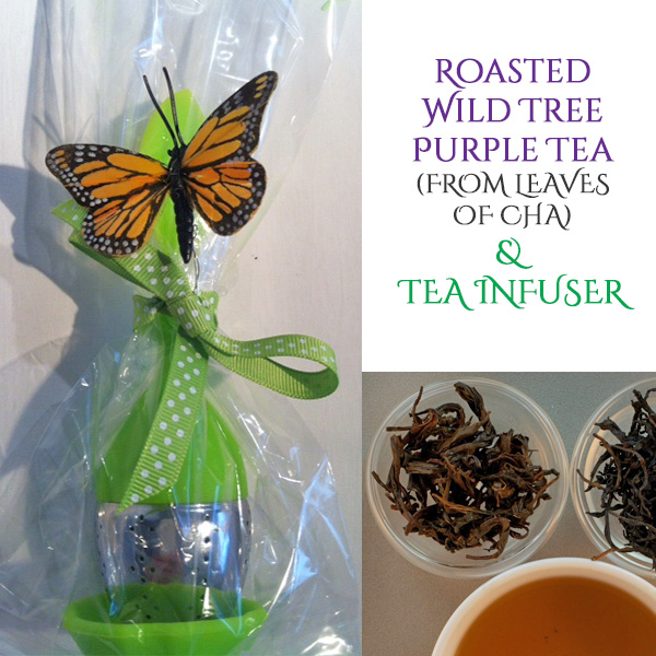 Chinese Tea Leaves of Cha with Infuser